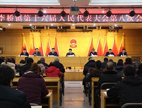 李桥镇第十六届人大第八次会议召开