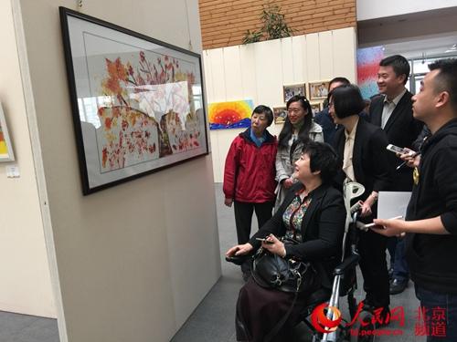 百余幅孤独症儿童绘画作品在清华美院展出 画展为期5天