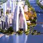 新城核心区高端商务功能地和城市副中心发展战略引擎区。