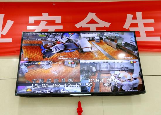 安贞街道建成阳光餐饮点位129处后厨可实现视频监控