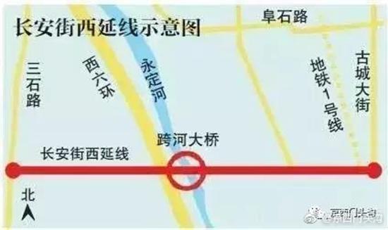 长安街西延长线今年将进行跨永定河特大桥施工