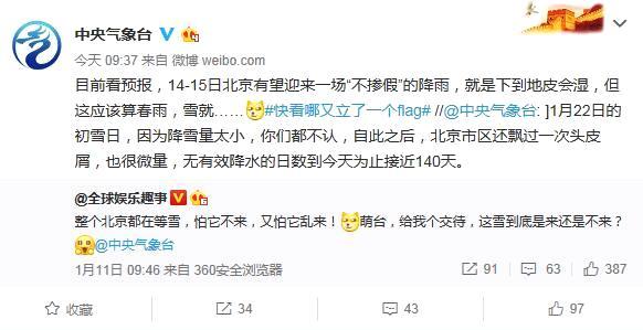 """北京本周前暖后冷最高温降幅达10℃周三或有""""春雨"""""""