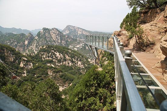 清明假期北京清凉谷风景区玻璃栈道免费开放