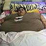 女子突然变千斤胖子