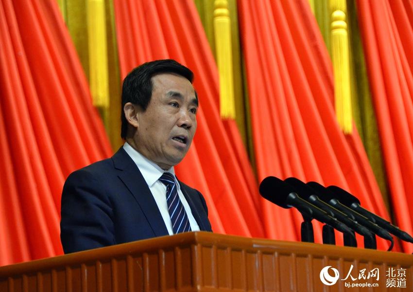 组图:北京市政协十三届二次会议举行大会发言