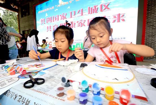 """安贞街道第九届""""人口文化节""""举行共创国家卫生城区"""
