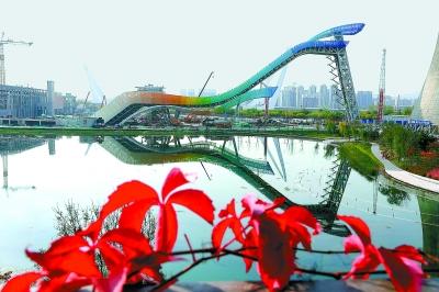 冬奥会北京赛区首个新建比赛场馆滑雪大跳台建成