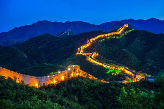 北京端午文化节启动 八达岭长城开启夜游模式