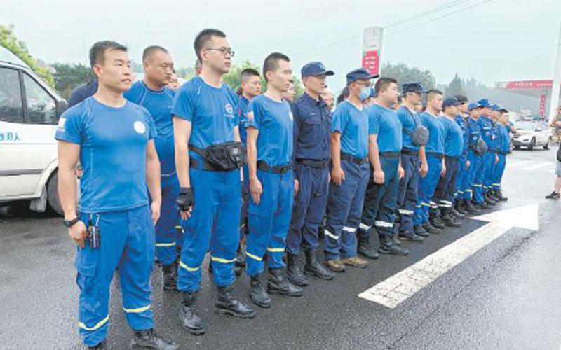 北京�{天救援��Y援河南防汛���U